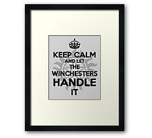 KEEP CALM: Winchesters Framed Print