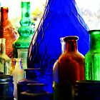 Antique Bottles by Sandra Bauser Digital Art