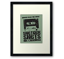 Driver Picks the Music Framed Print