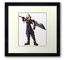 Final Fantasy 7 - FF7 - FFVII - Cloud, with buster sword. Framed Print