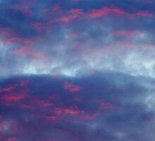 Red clouds Sticker