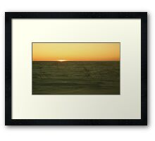 Sunset with Ski Goggles Framed Print