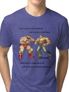 Zangief and Haggar, powerbombs and lariats Tri-blend T-Shirt