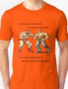 Zangief and Haggar, powerbombs and lariats Unisex T-Shirt