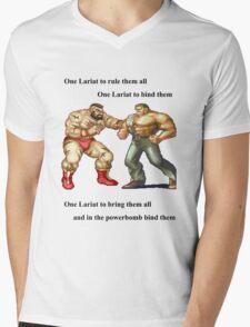 Zangief and Haggar, powerbombs and lariats Mens V-Neck T-Shirt