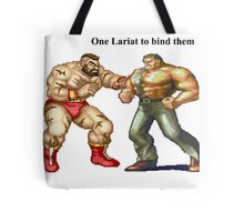 Zangief and Haggar, powerbombs and lariats Tote Bag