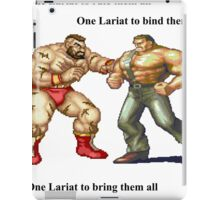 Zangief and Haggar, powerbombs and lariats iPad Case/Skin