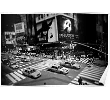 New York Times Square Black and White Poster