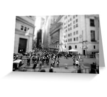 New York Wall Street & Stock Exchange Black and White Greeting Card