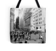 New York Wall Street & Stock Exchange Black and White Tote Bag