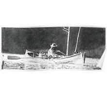 Man Rowing Poster
