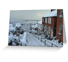 Snow in Hythe Kent Greeting Card