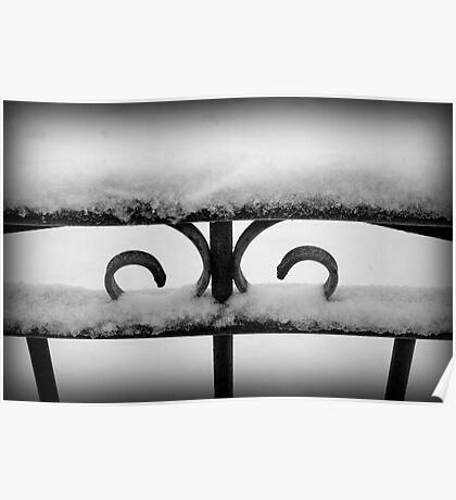 Wrought Iron WInter Poster