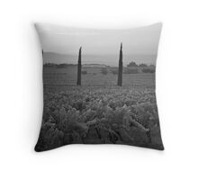 Vineyard dawn Throw Pillow