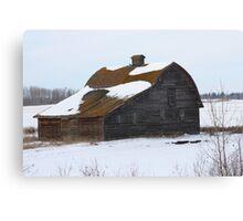 Lonely Prairie Barn   Canvas Print