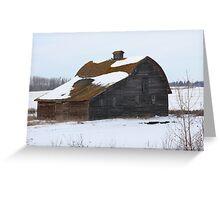 Lonely Prairie Barn   Greeting Card