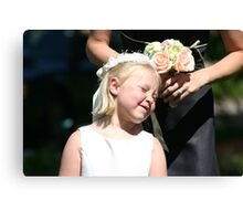 The Flower Girl at a friend's wedding. Canvas Print