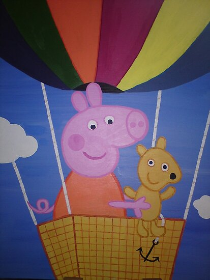 Peppa Pig and friend on a fun balloon ride! by eleanor boyle