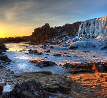 Thingvellir Frozen Waterfall by magnetik