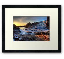 Thingvellir Frozen Waterfall Framed Print