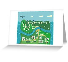 cartoon map Greeting Card