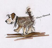 News Hound by Angela  Burman