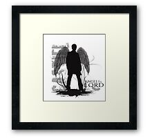 Castiel the Angel Framed Print