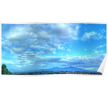 ©HCS Sky in Blue Panoramic Poster
