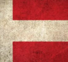 Old and Worn Distressed Vintage Flag of Denmark Sticker