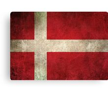 Old and Worn Distressed Vintage Flag of Denmark Canvas Print