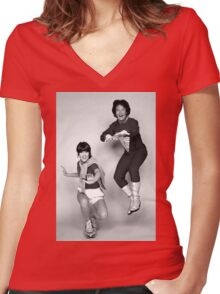 Dynamic Duo \\ Mork and Mindy Women's Fitted V-Neck T-Shirt