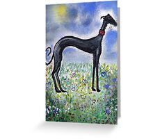 Greyhound in Field Greeting Card