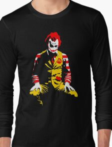 The Joker Ronald Mcdonald - Batman Long Sleeve T-Shirt