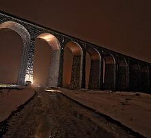 Ribblehead Viaduct in Lights! by Mark Dobson
