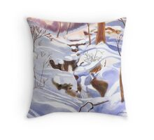 Blues in Winter Throw Pillow