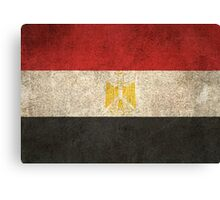 Old and Worn Distressed Vintage Flag of Egypt Canvas Print