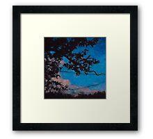 Cherry Tree silhouette Framed Print