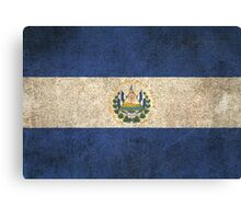 Old and Worn Distressed Vintage Flag of El Salvador Canvas Print