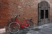 Red bicycle by annalisa bianchetti