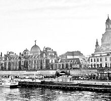 Dresden, Terrassenufer and Frauenkirche by MartinKeith