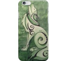 Howl in green iPhone Case/Skin