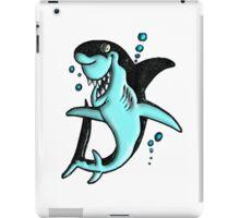 ©DA Cartoon Shark BW iPad Case/Skin