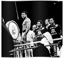 Thrilla in Manila. Reaction to Question About His weight Poster