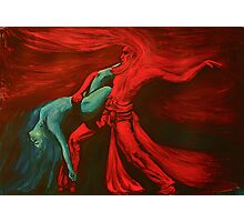 Fire and water dance    Photographic Print