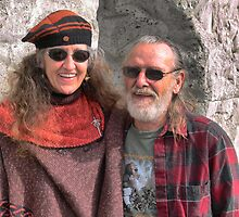 TK and Lynn. ( Oct 2009 ) Keeping his memory alive ! by Larry Lingard-Davis