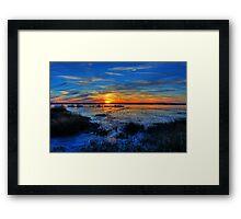 Low Tide at Sunset Framed Print