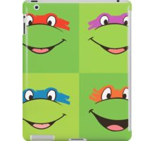TMNT Teenage Mutant Ninja Turtles Leonardo Michaelangelo Donatello Raphael Mikey Green iPad Case/Skin