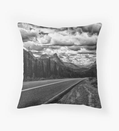 Cruising the Icefields Parkway Throw Pillow