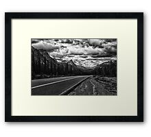 Cruising the Icefields Parkway Framed Print