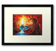 SWING INTO THE LIGHT OF LIFE Framed Print
